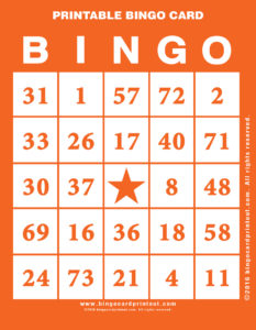 Printable Bingo Card 2