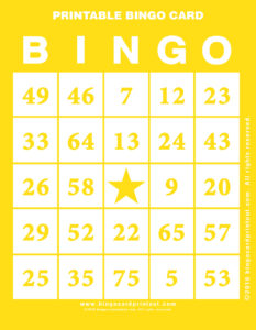 Printable Bingo Card 3