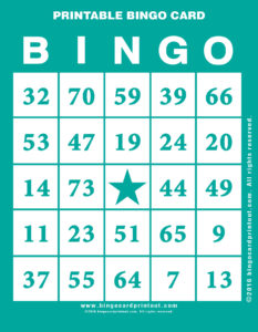 Printable Bingo Card 5