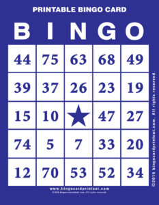 Printable Bingo Card 6