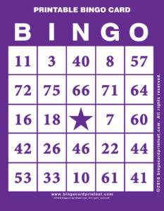 Printable Bingo Card 7