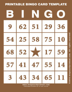 Printable Bingo Card Template 10