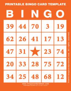 Printable Bingo Card Template 2