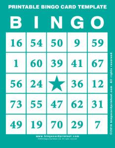 Printable Bingo Card Template 5