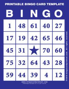 Printable Bingo Card Template 6