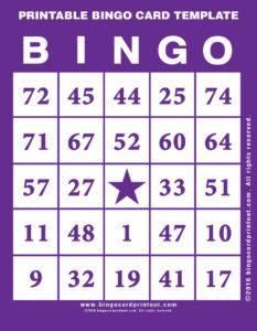Printable Bingo Card Template 7