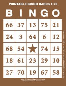 Printable Bingo Cards 1-75 10