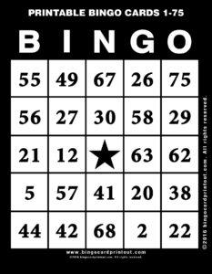 Printable Bingo Cards 1-75 11
