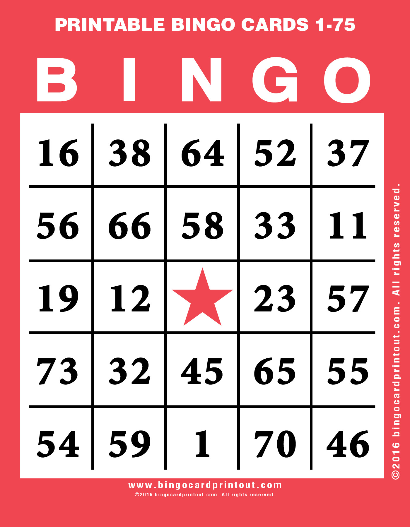 Sweet image in printable bingo cards 1 75