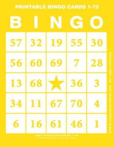 Printable Bingo Cards 1-75 3