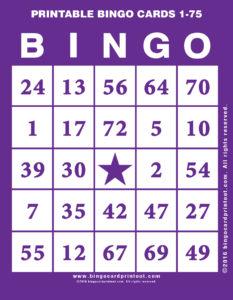 Printable Bingo Cards 1-75 7