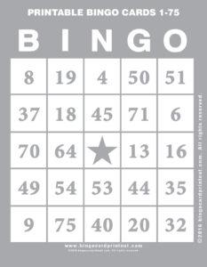 Printable Bingo Cards 1-75 9
