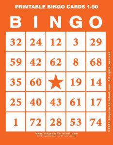 Printable Bingo Cards 1-90