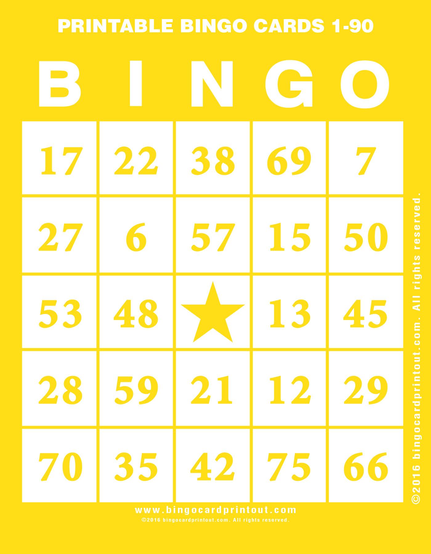 graphic relating to Printable Bingo Numbers 1 75 identify Printable Bingo Playing cards 1-90 -