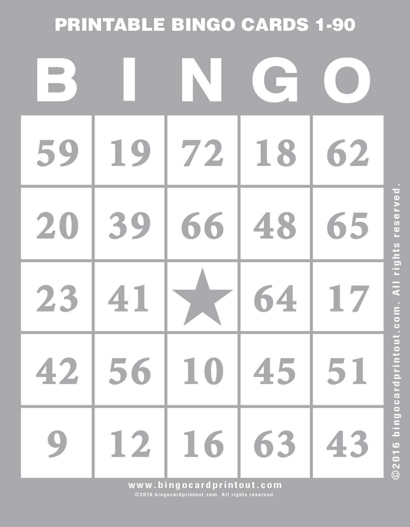 printable bingo cards 1 90 bingocardprintout com