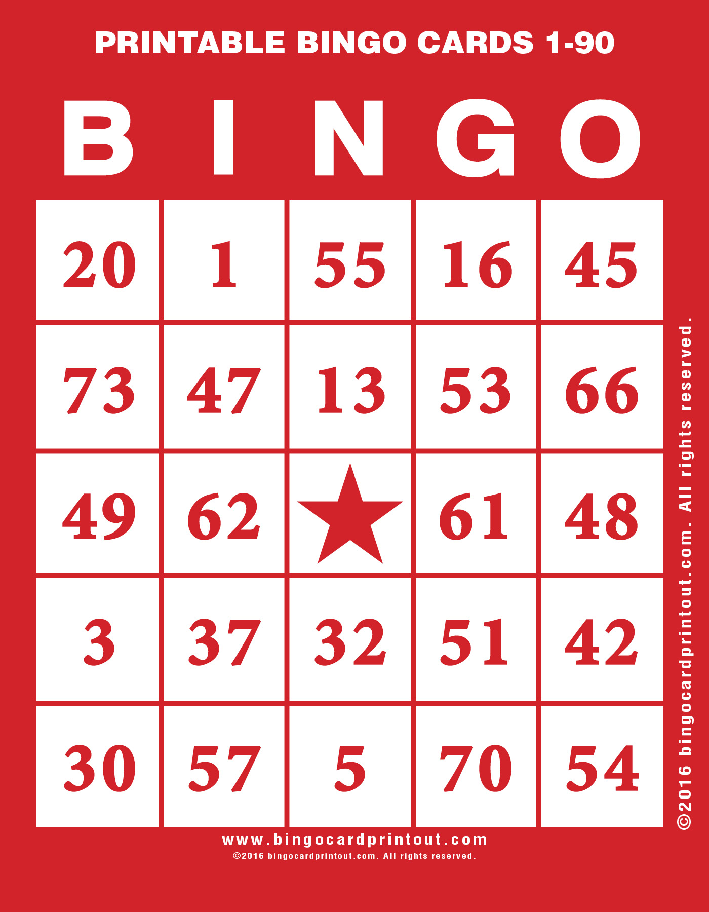 graphic about Printable Bingo Cards 1-90 titled Printable Bingo Playing cards 1-90 -