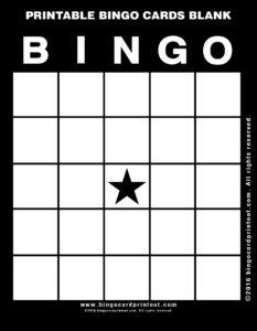 Printable Bingo Cards Blank 11