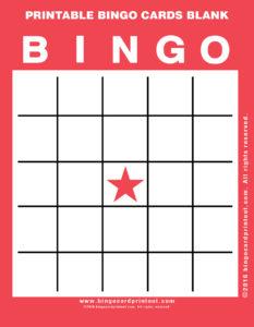 Printable Bingo Cards Blank 12