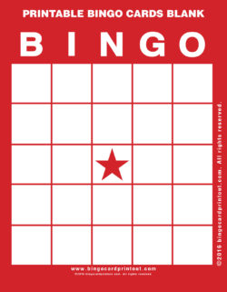 Printable Bingo Cards Blank