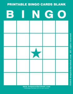 Printable Bingo Cards Blank 5