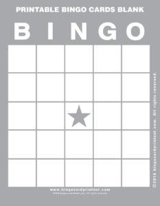 Printable Bingo Cards Blank 9