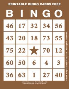 Printable Bingo Cards Free 10