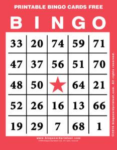 Printable Bingo Cards Free 12
