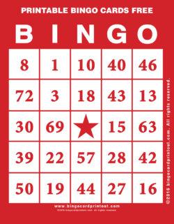 Printable Bingo Cards Free