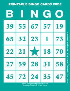 Printable Bingo Cards Free 5
