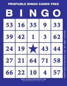 Printable Bingo Cards Free 6