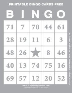 Printable Bingo Cards Free 9