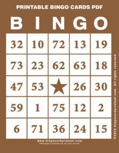 Printable Bingo Cards PDF 10