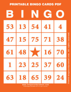 Printable Bingo Cards PDF 2