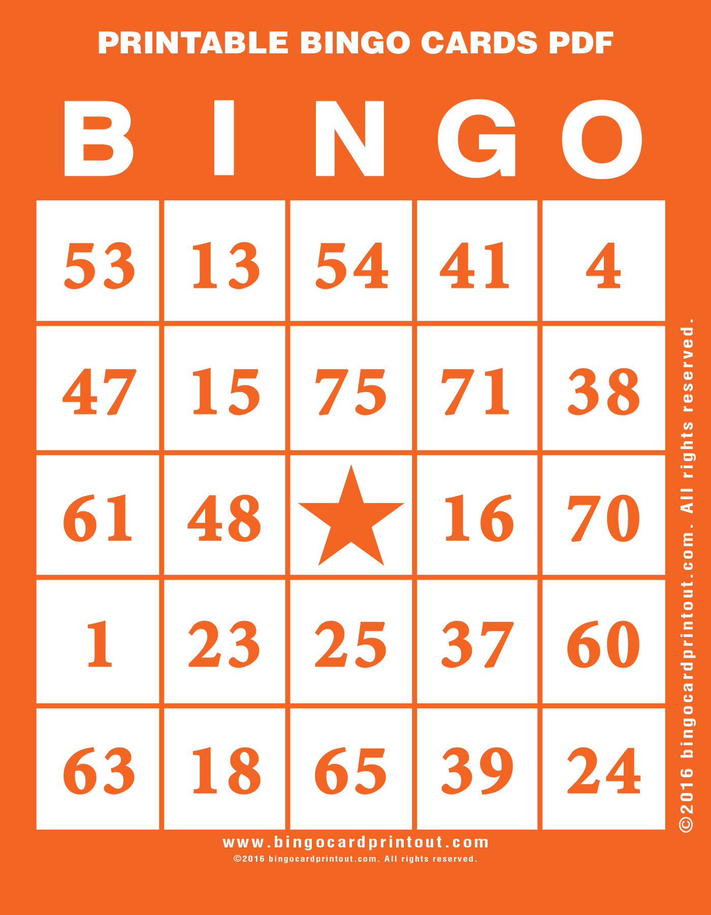 Printable Bingo Cards PDF - BingoCardPrintout.com For Blank Bingo Template Pdf