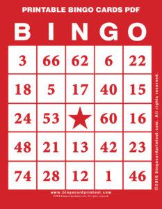 Printable Bingo Cards PDF