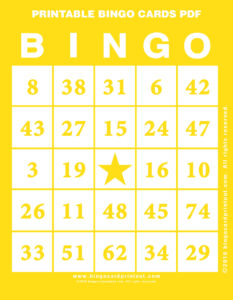 Printable Bingo Cards PDF 3