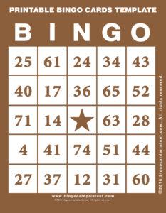 Printable Bingo Cards Template 10