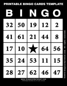 Printable Bingo Cards Template 11