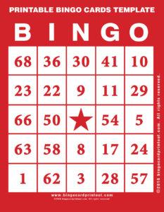 Printable Bingo Cards Template