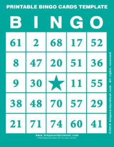 Printable Bingo Cards Template 5