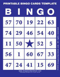 Printable Bingo Cards Template 6