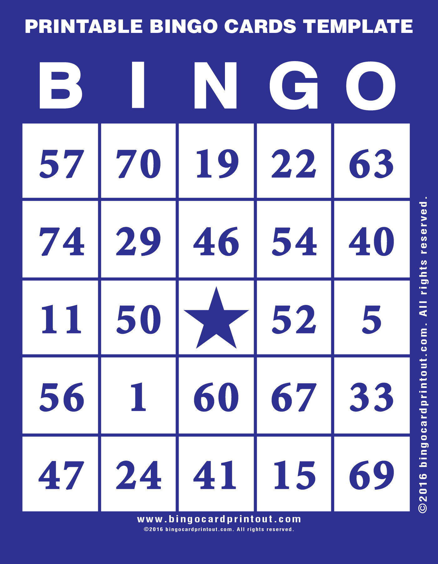 printable bingo cards template. Black Bedroom Furniture Sets. Home Design Ideas