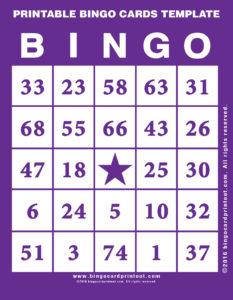 Printable Bingo Cards Template 7