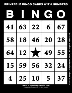 Printable Bingo Cards With Numbers 11