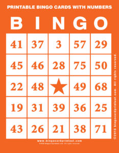 Printable Bingo Cards With Numbers 2