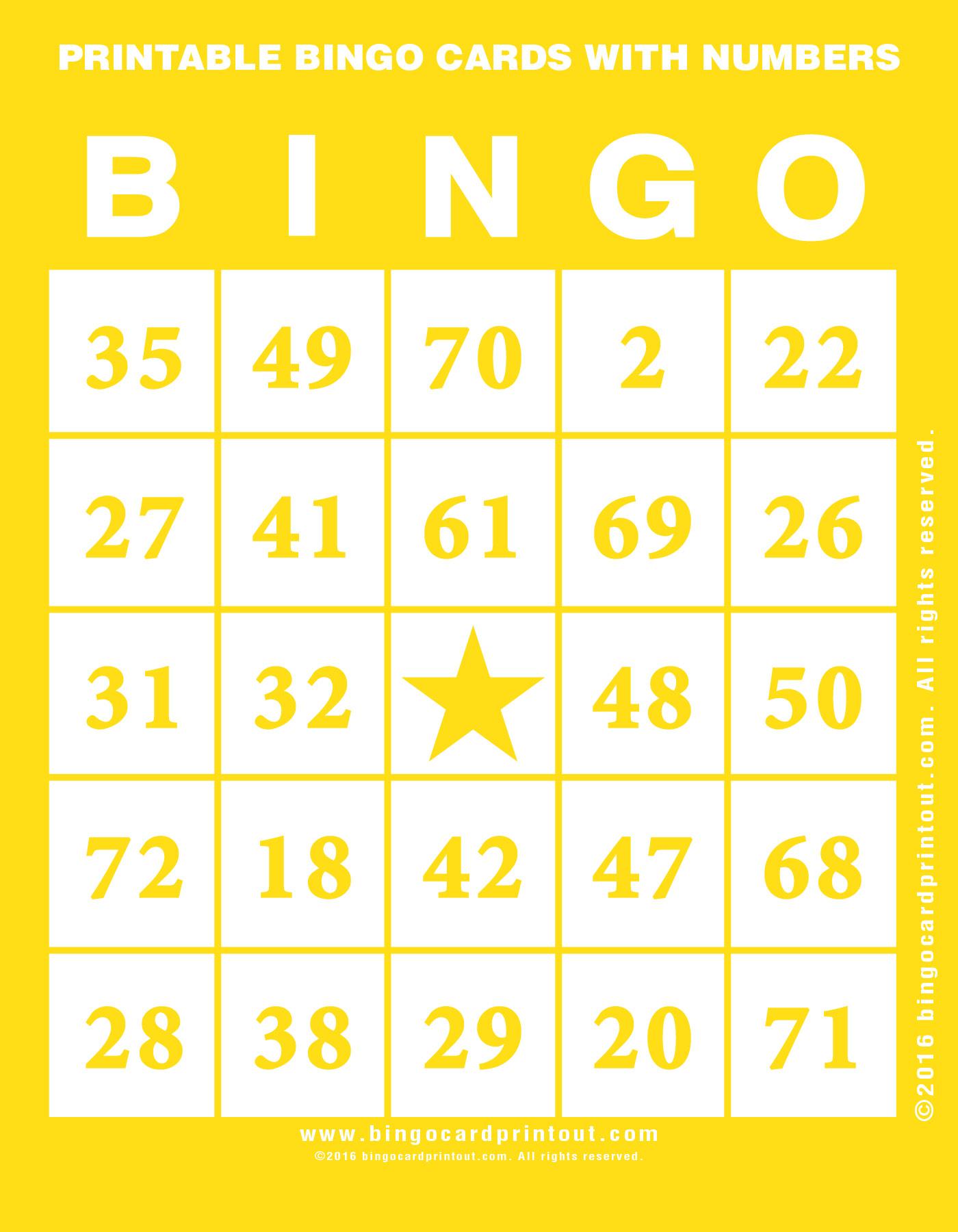 photo regarding Printable Number Bingo Cards identified as Printable Bingo Playing cards With Quantities -