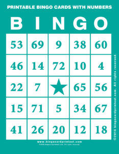 Printable Bingo Cards With Numbers 5