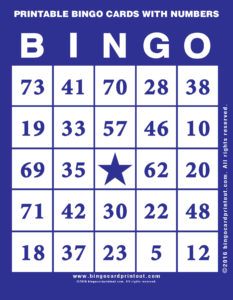 Printable Bingo Cards With Numbers 6