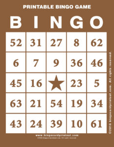 Printable Bingo Game 10