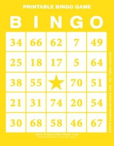 Printable Bingo Game 3